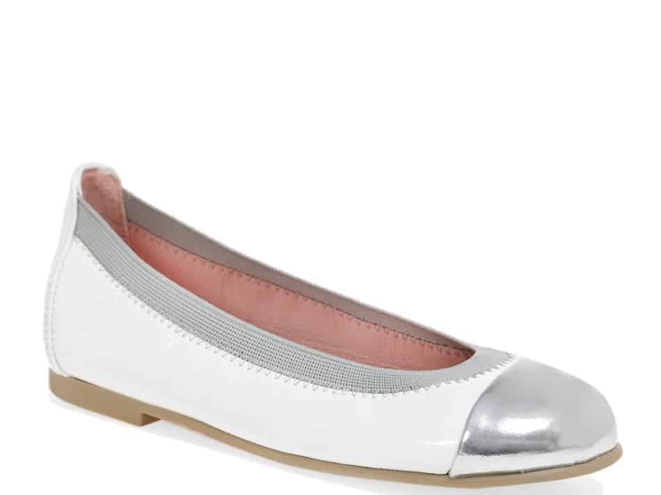 Silver Princess כסף לבן ילדות  בלרינה נעלי בלרינה לילדות נעלי בלרינה